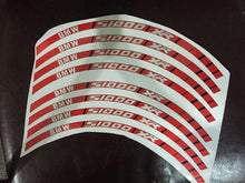 S1000XR Reflective Wheel Stripe Decal Wide Rim Sticker Full Set
