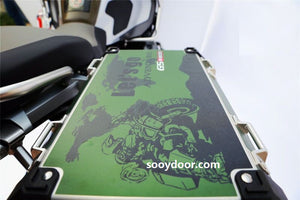 3 x R1200GS ADV Army Green Let's Go Adventure 2018 Pannier Box Reflective Decal Sticker