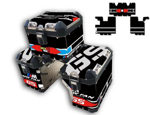 3 x R1200GS ADV 3M Pannier Box Sticker Decal Black Reflective
