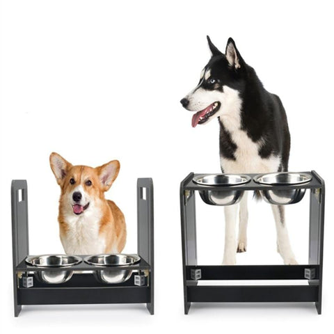 Image of Adjustable Double Dog Bowls