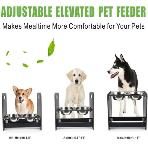 Adjustable Double Dog Bowls