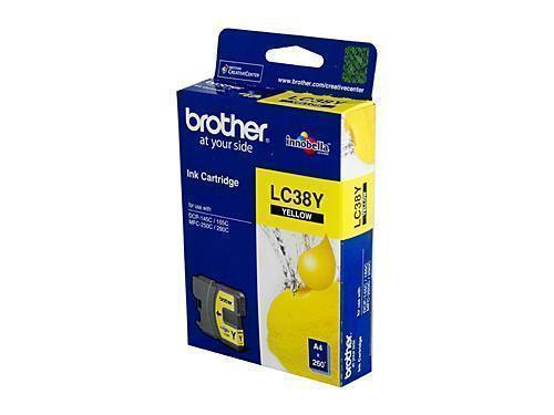 Brother LC38 Yellow Ink