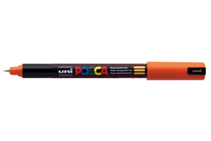 MARKER UNI POSCA PC1MR N/POINT 0.7MM ORANGE