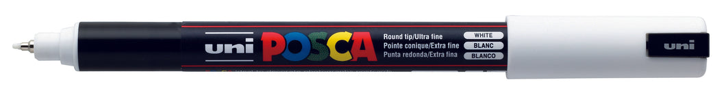 MARKER UNI POSCA PC1MRWH N/POINT 0.7MM WHITE