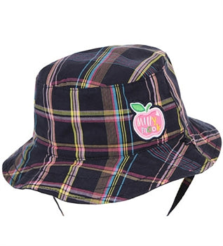 Millymook and Dozer - Girls Candy Bucket Hat - Navy