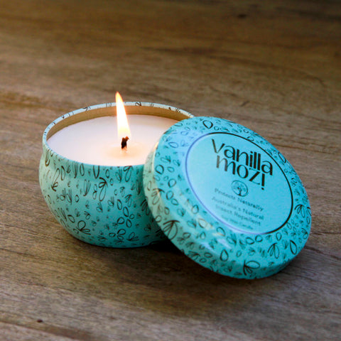 Vanilla Mozi Soy Wax Candle - Tin