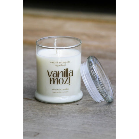 Vanilla Mozi Soy Wax Candle - Glass Jar