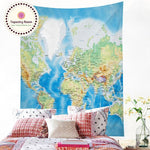 World Map Wall Tapestry 5x4.5ft - Tapestry Room