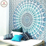 Blue Boho Beauty Mandala Wall Tapestry - 5x7ft - Tapestry Room