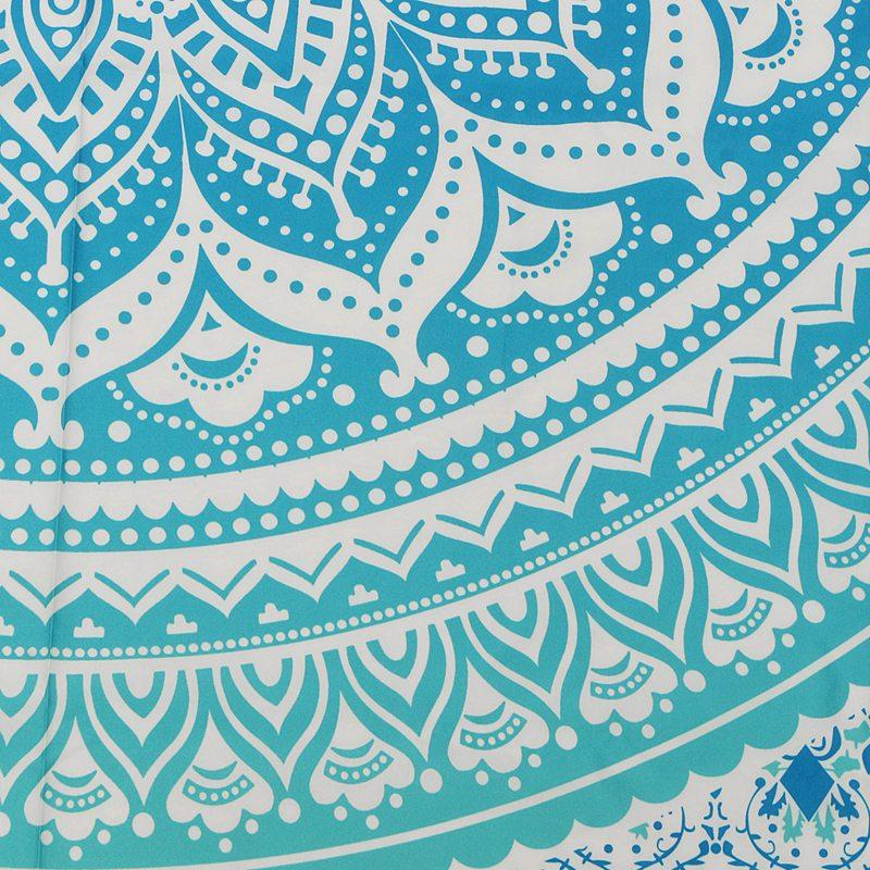Blissful Blue Mandala Wall Tapestry 7x5ft - Tapestry Room