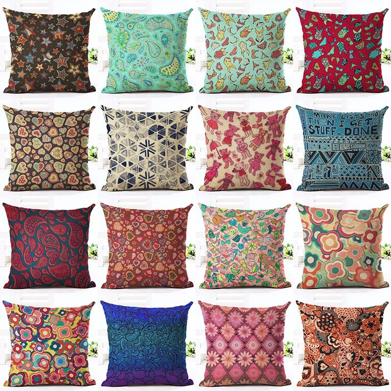 Bohemian Flower Mandala Pillow Covers 18x18in - 17 choices - Tapestry Room