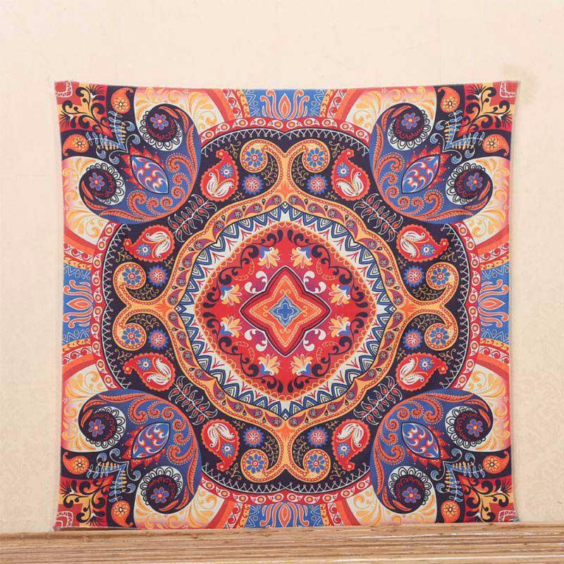 Tibetan Mandala Wall Tapestry - 5x5ft - Tapestry Room