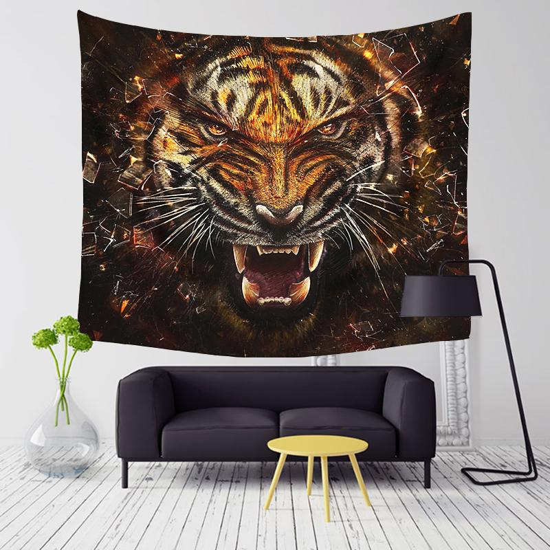 Incredible Tiger Series Wall Tapestry - 5x5ft (4 choices) - Tapestry Room