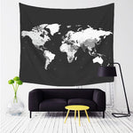 Woven World Map Wall Tapestry - 5x5ft (6 choices) - Tapestry Room