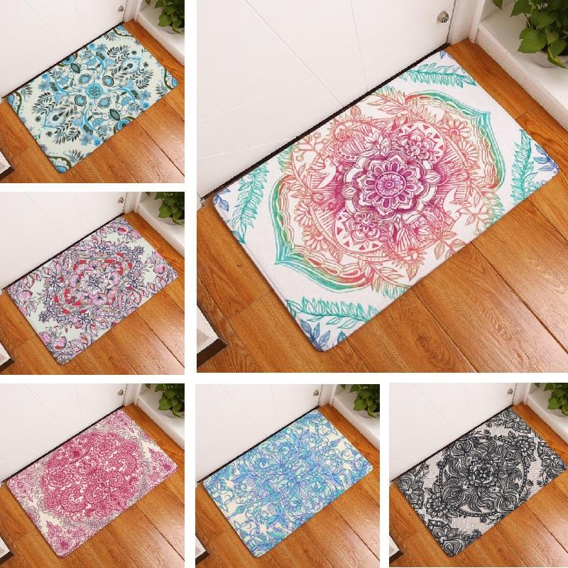 Suede Mandala Door Mats - 14 different design choices - Tapestry Room