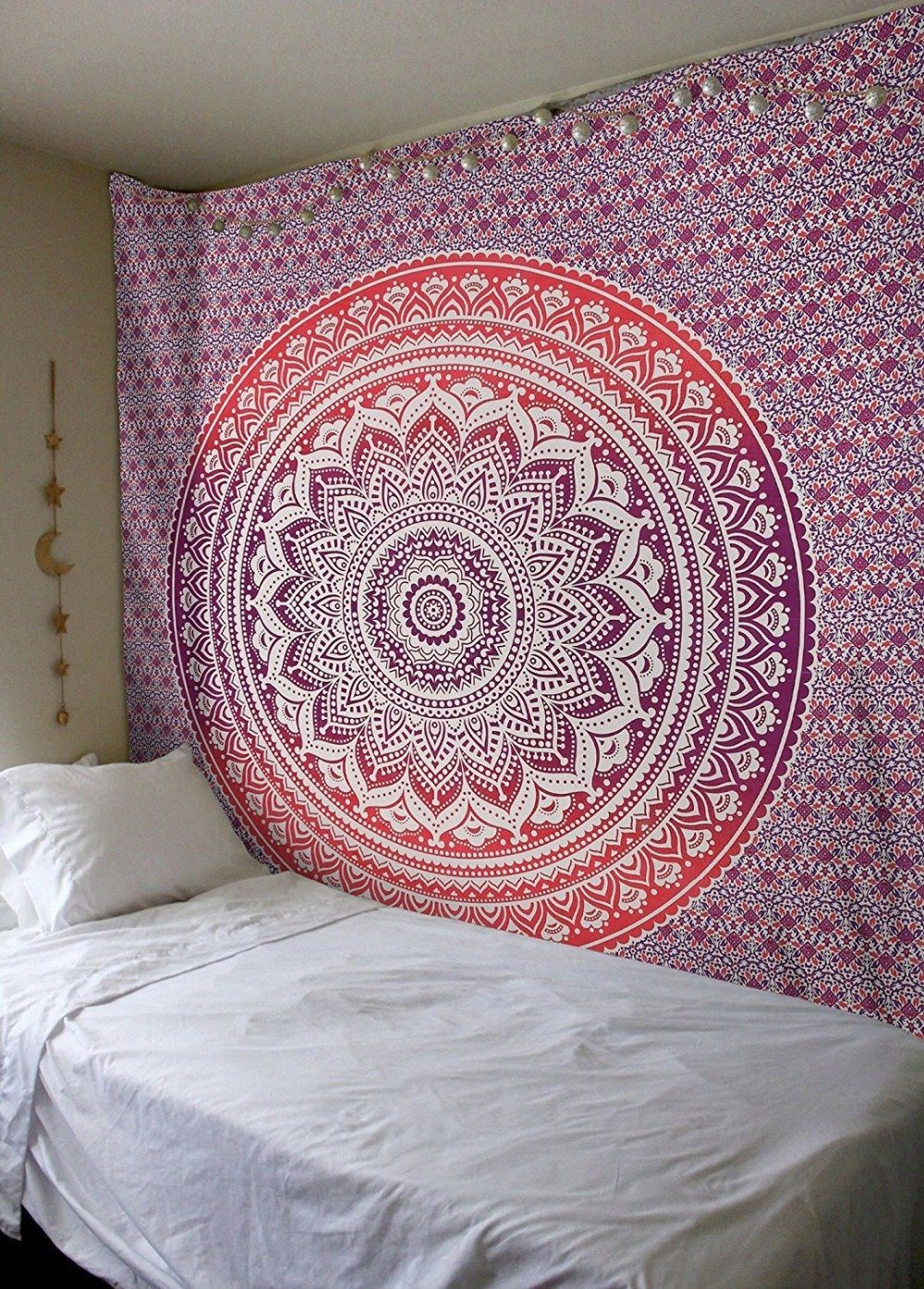 Purple Indian Mandala Hindu Wall Tapestry - 5x7ft - Tapestry Room