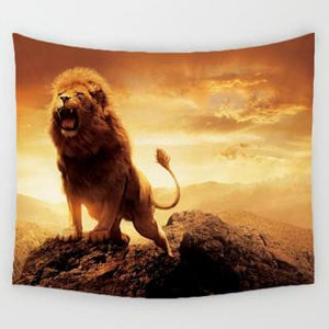 Vivid Wolf Wall Tapestry Collection - 5x5ft (6 choices) - Tapestry Room