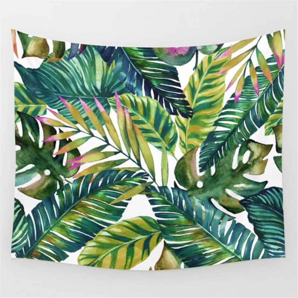 Tropical Banana Leaf Wall Tapestry - 5x5ft - Tapestry Room