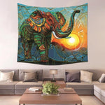Carnival Sun Bohemian Elephant Wall Tapestry - 5x5ft - Tapestry Room