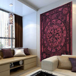 The Knowing Yogi Mandala Wall Tapestry 7x5ft - Tapestry Room