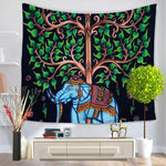 Bohemian Elephant Tree Wall Tapestry 7x5 foot - Tapestry Room