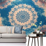 Blue Embrace Mandala Wall Tapestry - 2 size choices - Tapestry Room
