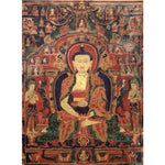 Buddha in Asia Knitted Wall Tapestry - 5x7ft - Tapestry Room