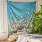 White Blossom Wall Tapestry - 5x7ft