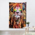 Rasta Lion Wall Tapestry - 4.25x6.25ft - Tapestry Room