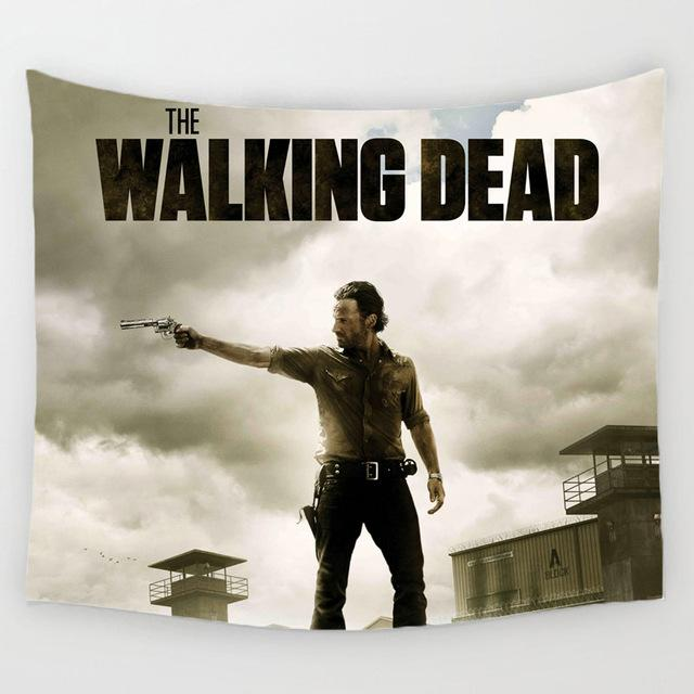 The Iconic Rick Walking Dead Wall Tapestry - 5x5ft - Tapestry Room