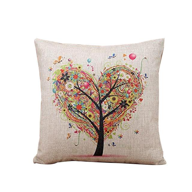 Heart Tree of Life Pillow Case - 18x18inches - Tapestry Room