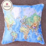 World Map Pillow Case - Tapestry Room