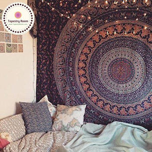 Tapestry Room Geometric Mandala Wall Tapestry 7x7.5 foot - Tapestry Room