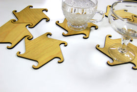 Wooden Coasters (Set of 7)