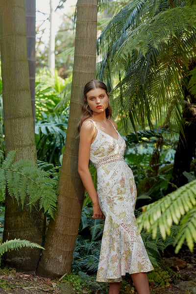 ENCHANTED GARDEN MIDI DRESS