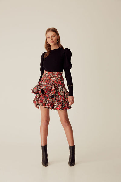 LARLY QUILTED SKIRT