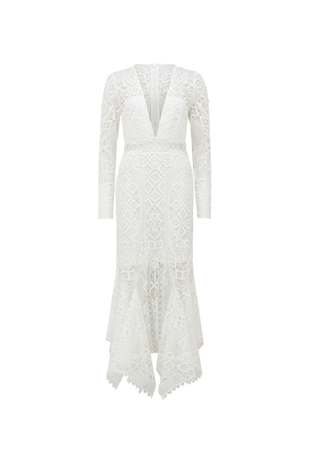 MARION RUFFLE WRAP DRESS