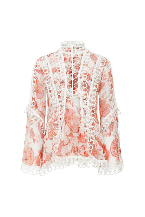 ORIENTAL CHINTZ BLOUSE