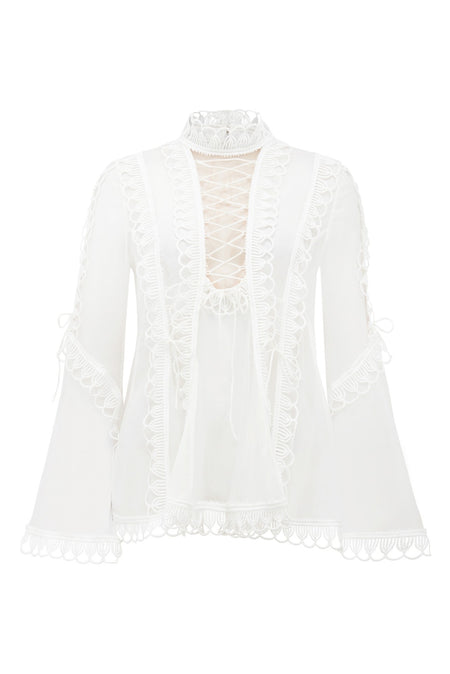 ORIENTAL CHINTZ EMBROIDERY BLOUSE