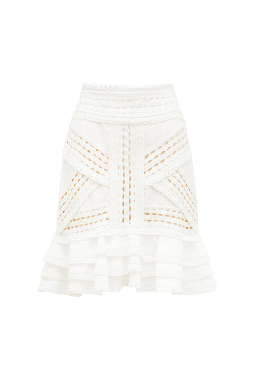 DRUSUS MINI SKIRT - IVORY