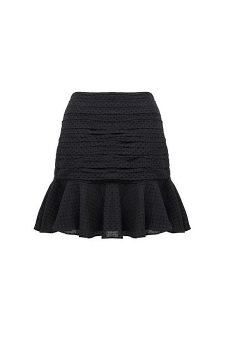 ONE SHOULDER CREST KNIT DRESS