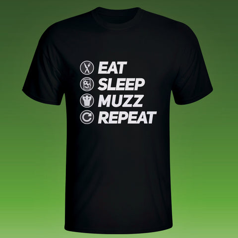EAT SLEEP MUZZ REPEAT T-SHIRT