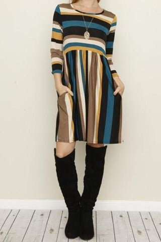 River Run Striped Dress