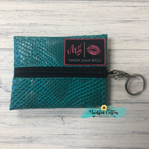 Micro KeyChain Turquoise Cobra by Makeup Junkie