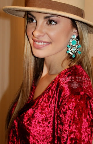 Jesse James Turquoise Earrings
