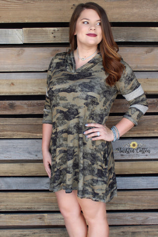 Hard at Play Camo Hoodie Tunic