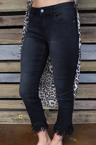 Black Frey Bottom Jeans