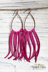 Fringe Leather Goddess earrings