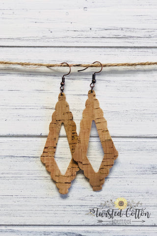 Cork Diamond Earrings
