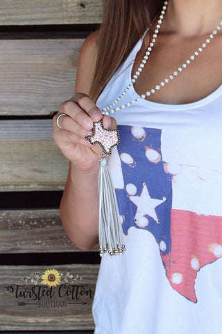 Texas & Fringe necklace